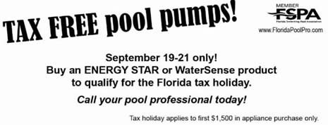 tax free pool pumps 2014