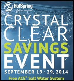 HotSpring Crystal Clear Savings Event