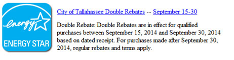 city of tallahassee double rebates